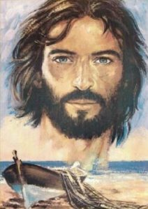 print Christ with boat