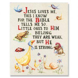 print Jesus loves me
